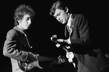 Bob Dylan and Robbie Robertson at Bob Dylan Concert, Knoxville, Tenn., Oct. 8, 1