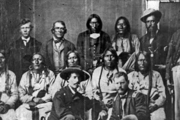 Cheyenne and Arapaho chiefs gathered
