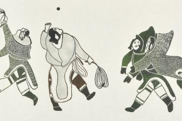 Pitseolak Ashoona (Inuit, 1904-1983), Games of My Youth, 1978