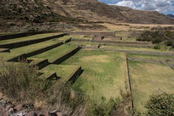 Tipon, near Cusco, a wonder of Inka irrigation and hydraulic engineering.  Photo