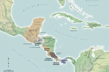 Overall map of Central America