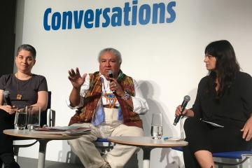 A panel at the international art fair Art Basel Miami