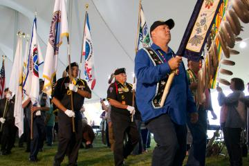Grand Entry of Native American veterans at the Fourth Annual National Gathering of American Indian Veterans