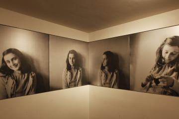 Photo mural at Anne Frank House Museum