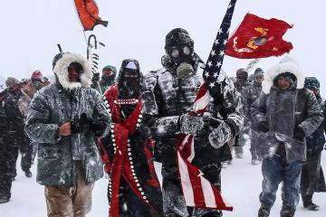 U.S. Marine veterans leading Dakota Access Pipeline protestors
